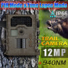 Tiempo-Proof IP66 Black IR Game Camera de 12MP 1080P