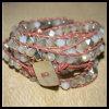 Handgemachtes ledernes Art- und Weisearmband mit Kristall (BS23)