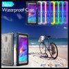 La plus nouvelle couverture mobile imperméable à l'eau de cas de Phnoe de cellules pour la note 4 de galaxie de Samsung