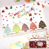 Forma Paper Cardboard Cookies Box para Christmas Day