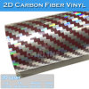 Brillante Etiqueta automática de papel de color de fibra de carbono 2D coche de la película