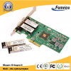 Femrice 1000Mbps Dual Port Gigabit Ethernet PCI Express X4 SFP Slot Server LAN Card (10002EF)