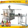 Автоматическая машина стеклянной бутылки пива заполняя покрывая