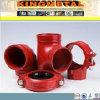 Ajustage de précision de pipe Grooved étirable approuvé de fer de bas-de-ligne d'UL de FM