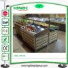 Prateleiras de indicador de madeira do Pinewood da cremalheira da fruta do supermercado