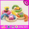 Leuchtendes Color Wooden Geometric Stacker für Kids, Shape Matching Toys Geometric Stacker für Children W13e056