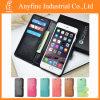 Flip de cuero Cover Credit Card Wallet Caso para el iPhone 6 para el iPhone 6 Plus