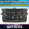 Toyota Corolla 2007-2012년 (W2-D8124T) Front DVR Capactive Screen OBD 3G WiFi Bluetooth RDS를 위한 GPS를 가진 Witson Car DVD Player