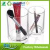 Support cosmétique d'entreposage en cadre de balai de support d'organisateur acrylique clair de renivellement