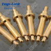 Doppelter Ended Brass Pogo Pin mit Sprung-geladen und Gold-Plated, Current Load 2~15A, Contact Resistance: 20~30mohm