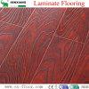 Diseño rojo en relieve de madera Textura Eir Superficie suelo laminado