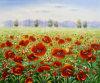 Peintures d'horizontal rouges modernes de mer de fleur (LH-356000)