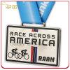 Médaillon adapté aux besoins du client de trophée en métal de sport de concurrence de course de bicyclette de l'Amérique