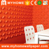 500*500mm pvc Color Paintable 3D Wall Panels voor Building Material
