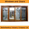 La finestra di alluminio di colore di legno soddisfa a come standard