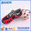 De Tennisschoen van de Legering van het Metaal van de fabriek en de Tegenhanger Keychain van de Voetbal