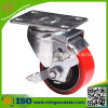 Rote PU-Rad-Fußrollen-industrielle Rad-Fußrolle