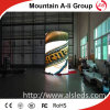 P10 que hace publicidad de la pantalla al aire libre redonda/cilíndrica video del LED