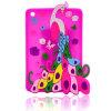 Cubierta del teléfono móvil de la historieta del silicio del pavo real para el caso del iPhone 6s/6plus (XSDW-018)