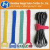 Gedruckter Firmenzeichen-mehrfachverwendbarer Haken und Schleifen-Kabelbinder