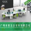 Mobília útil profissional ergonómica da estação de trabalho do computador de escritório de 6 assentos