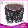 Chiusura riccia del Frontal del merletto dei capelli brasiliani umani