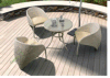 4PCS Outdoor Rattan Dining Set