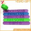 Bracelet r3fléchissant de claque de PVC de fabrication (YB-SL-01)