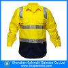 Chemises r3fléchissantes de mode d'hommes d'usure de sécurité élevée faite sur commande de visibilité