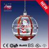 Forma da esfera redonda de Papai Noel que pendura a lâmpada do diodo emissor de luz para o Natal