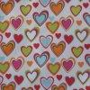 옥스포드 210d Ripstop PVC/PU Heart Printed Polyester Fabric