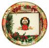 Bandeja redonda de la cena de la placa de Plastc del regalo de la Navidad