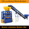 シエラレオネのためのMultifuncation Qt4-24 Manual Block Moulding Machinery