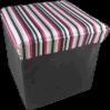 Cetim com Stripe Printing Foldable Storage Stool