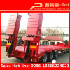 High quality trichloroethylene Axle 60 of tone Lowboy Trailer with Hydraulic Ladder