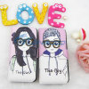 Leuke Girl en Boy Lovers Leather Case voor iPhone 5g