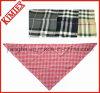 Bandana 100% de plaid vérifié par triangle de mode de coton