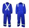 濃紺の反射長い袖100%Cottonの帯電防止Workwearのユニフォーム