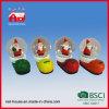 Zapatos de la Navidad del globo de la nieve del agua de Polyresin y decoración de Papá Noel con el LED
