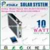 Sistema de iluminación solar portable ultra fino del LED para los hogares (PETC-10W)