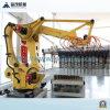 Máquina de fatura de tijolo da argila com o robô que empilha o sistema