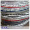 Mangueira reforçada da água do fio de aço da espiral da fibra do PVC