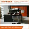 Armadio da cucina elegante di disegno della lacca nera con Blum