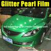 Пленка перлы диаманта яркия блеска автомобиля зеленая