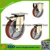 Hochleistungseisen-Kern PU-Fußrollen-Rad