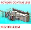 Ligne d'enduit automatique de poudre de changement de couleur rapide pour des produits en métal