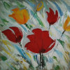 Segeltuch Big Flower Painting für Home Wall Decoration (LH-178000)