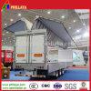 De camion de semi-remorque d'aile hydraulique de porte latérale de cadre remorque ouverte semi