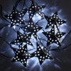 태양 금속 별 끈 빛 10 LEDs