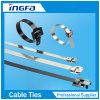 不良部分のためのReleasableまたはResuableのステンレス鋼の金属タイストラップ
